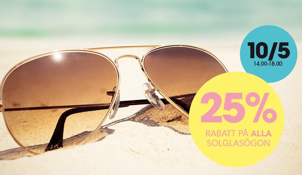 4e03df59a490 25% rabatt på ALLA solglasögon (gäller endast 10 5)